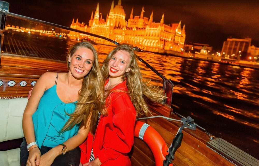 Girls At Boat Party At Budapest Business Party