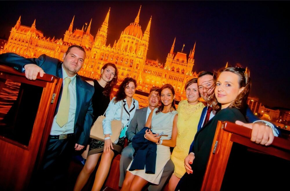 Guests At Budapest Business Party